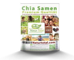 Chia Samen Test Naturtotal 2250 Frischhaltebeutel