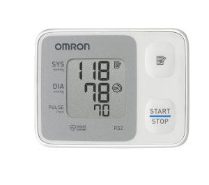 Handgelenk Blutdruckmessgerät Test Omron RS2